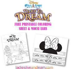 disney on ice presents dare to dream free printable coloring sheet