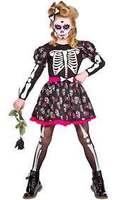 kids costume skeleton facepaint fancy dress day of the dead
