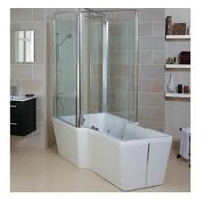 Bath Shower Door Free Standing Bath With Shower Enclosure Clearwater T4bl L2w