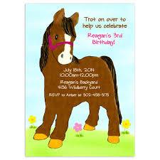 free printable horse birthday party invitations home party ideas