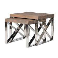 maison rutland narrow bedside cabinet industrial nest of 2 tables tables nest and industrial