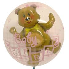 teddy bears inside balloons balloon baby girl pk1 ebay
