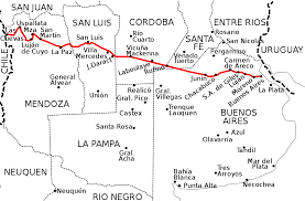 Las Cruces Zip Code Map by National Route 7 Argentina Wikipedia