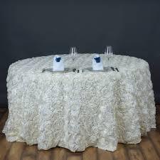 wedding linens for sale 6 pcs 120 satin ribbon rosette tablecloths designer wedding