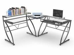 Corner Gaming Computer Desk by Corner Gaming Computer Desk With Z Line Belaire Glass L Shaped