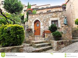 mediterranean style decorated patio stock images image 15486784