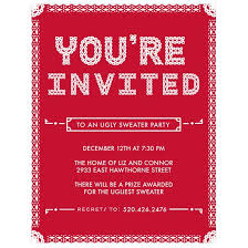 christmas party invitations sweater party invitation pear tree