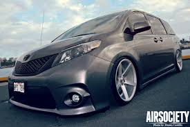 toyota custom toyota sienna auto customs bagged air ride suspension stance
