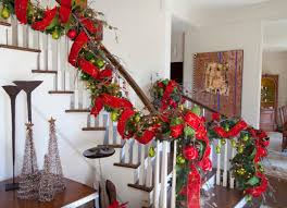 Christmas Railing Decorations Majestic Staircase Decorations In The Spirit Of Christmas