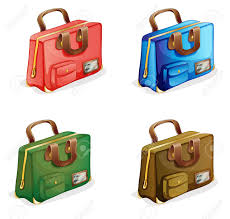 Suitcases Illustration Of Suitcases On A White Background Royalty Free