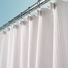 Cotton Waffle Shower Curtain Mdesign Hotel Quality Polyester Cotton Blend Fabric
