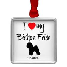 bichon frise ornaments keepsake ornaments zazzle