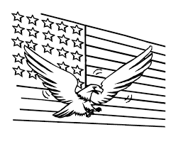 coloring pages american flag american eagle coloring pages getcoloringpages