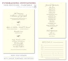 interesting gala fundraising invitation e card design sample with
