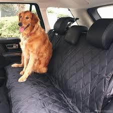2017 black waterproof hammock pet car seat cover black non slip