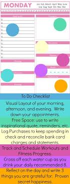 printable evening schedule 44 best printable planner pages images on pinterest arc planner