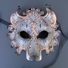 wolf masquerade mask custom wolf mask handmade leather mask made to order
