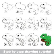 tutorial vector c iguana drawing tutorial stock vector illustration of green 69042831