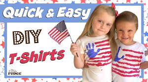 diy 4th of july t shirts easy crafts for kids youtube