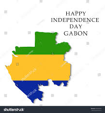 Gabon Map Vector Illustration Map Gabon Independence Day Stock Vector