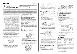 how to install brother p touch tape brother p touch pt 65 user manual 4 pages also for pt 65