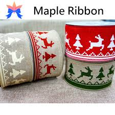 wired christmas ribbon 2015 reindeer wired christmas ribbon buy wire edge christmas
