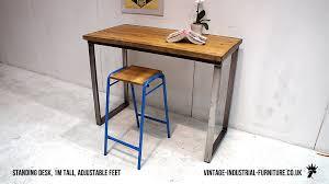Industrial Standing Desk by Vintage Industrial Office Furniture Innovation Yvotube Com