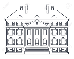 mansion clipart black and white old vintage house vector illustration royalty free cliparts