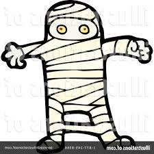 mummy clipart black and white