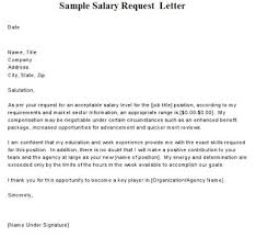 salary increase request sample letter salary increase letter