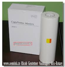 ricoh gestetner nashuatec rex rotary priport inks and masters paper