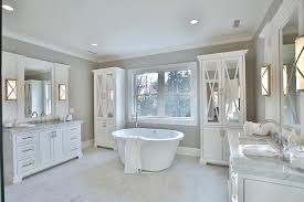 Bathrooms With Mirrors by Gray Bathroom With Mirrored Vanity Contemporary Bathroom