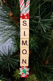 Easy Homemade Christmas Ornaments by Personalized Scrabble Tile Christmas Ornaments Happiness Is Homemade