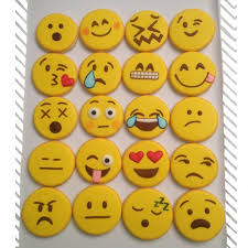 cookie emoji these adorable emoticon cookies would be perfect for a teen u0027s