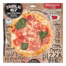 table 87 frozen pizza table 87 coal oven 10 pizza pie prosciutto 9 7 oz frozen
