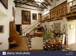 ecuador hacienda zuleta in the andes mountain range interior stock