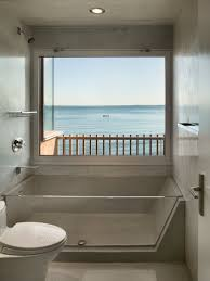 See Through Bathroom Oceanfront Residence With Stunning Coastal Views In Connecticut