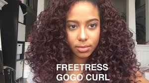 different images of freetress hair freetress gogo curl 99j review detangling process faqs youtube