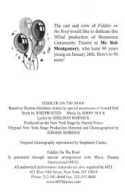 Fiddler On The Roof Synopsis by Fiddler On The Roof