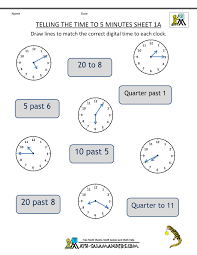 Math Facts Worksheets 3rd Grade Math Telling Time Clock Worksheets To 5 Minutes 3rd Grade Math