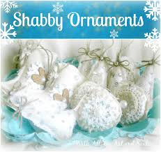 shabby chic ornaments easy peasy