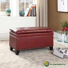 Bedroom Bench With Storage Red Bench Entryway Furniture Furniture The Home Depot