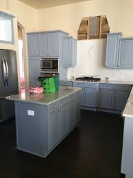 blue gray painted kitchen cabinets reduce the blue vibe in kitchen cabinets