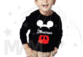 Mickey Mouse Toddler Costume Mickey Mouse Costume Mickey Pants Mickey Ears With Custom Name