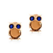 owl earrings classic owl stud earrings zinc alloy silver and gold