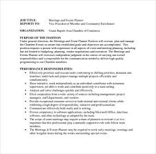Resume Format For Job Download by Sample Event Planner Resume 8 Documents In Pdf