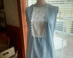 blue gingham dress etsy