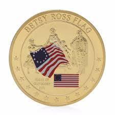 Betsy Ross Flags Betsy Ross Flag History Of Old Glory Gold Plated Commemorative