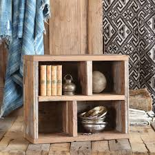 salvaged wood homart market salvaged wood crate with dividers vertical and
