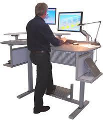 height computer desk workstation